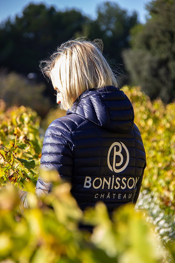 Victoire Le Dorze in the Château Bonisson vineyards